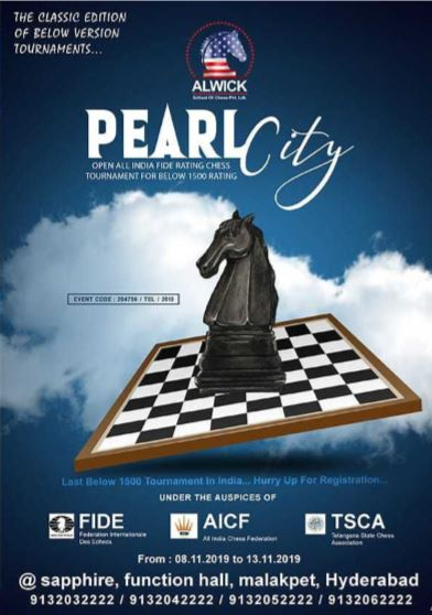 Pearl City Open All India FIDE Rating Chess Tournament For Below 1500 Rating